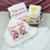 Trusou botez personalizat Pisica fetita
