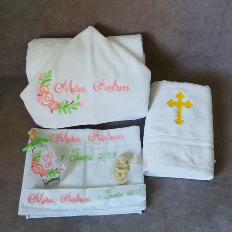 Trusou botez personalizat floricele