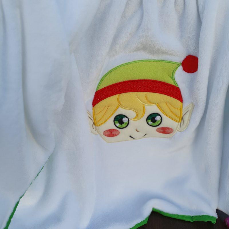 Paturica cocolino personalizata - Elf baietel sau fetita